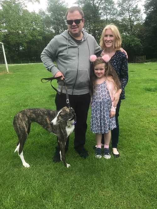 It was Magics lucky day as she left the kennels for her new life with the Ingham family