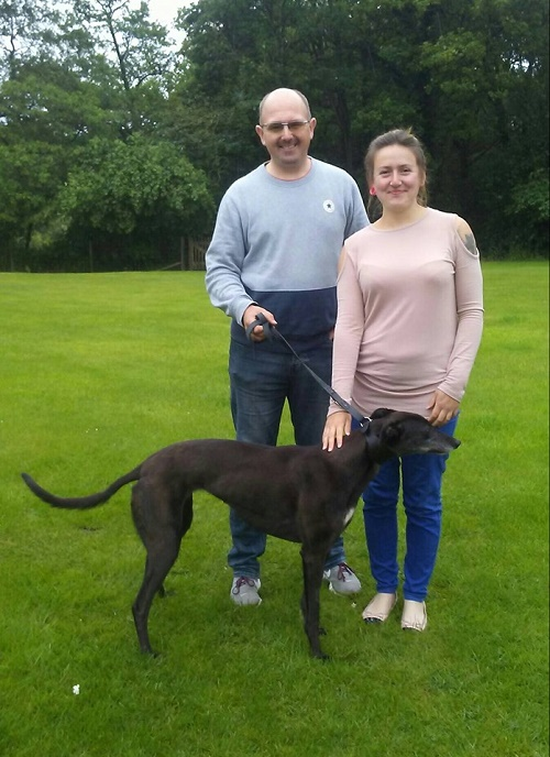 Our lovely Kat kept her name as she left kennels for her new life with the Loftus family