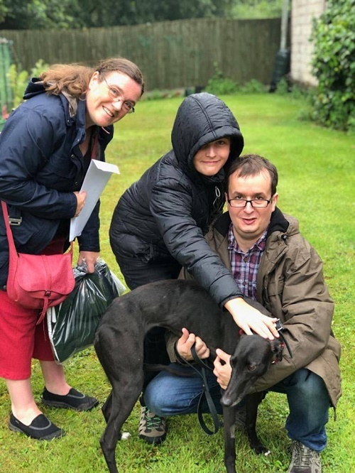 Raquel changed her name to Ella when she left the kennels for her new home with the Crawford family