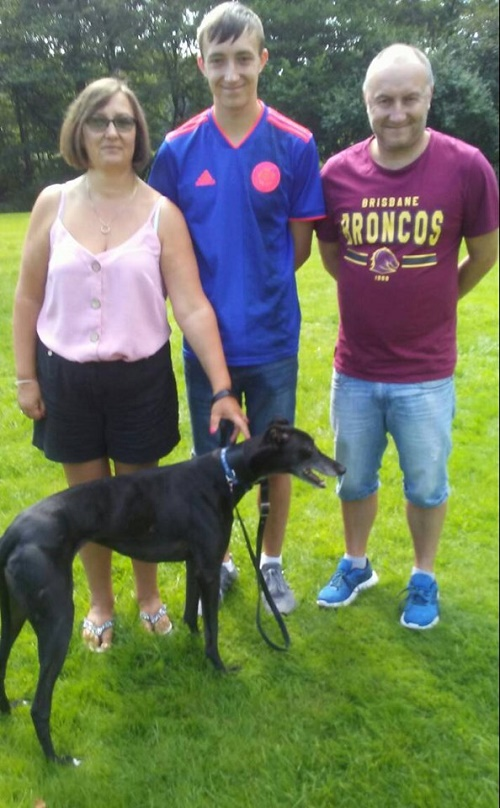 Little black beauty Sophie kept her kennel name when she left for her new life with the Harwood family
