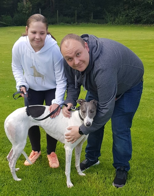 Sweet girl Crumble kept her kennel name as she left us for her new home with the Aston family