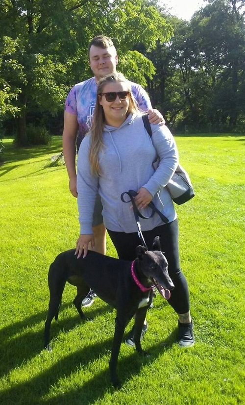 Our lovely Lisa found her forever home with Laura and her partner. She's now called Leyla and will be a much loved addition to the family