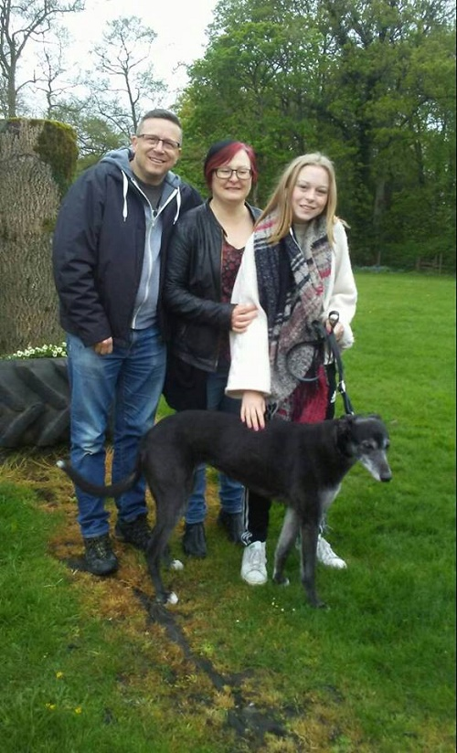 Older lady Carla left the kennels with the Palmer family