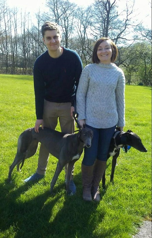 Pretty girl Keira found her forever home when she left our kennels with the Lawley family and her new hound brother