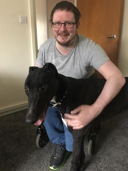 It's Troopers lucky day today as we took his out this morning to his forever home with Jamie