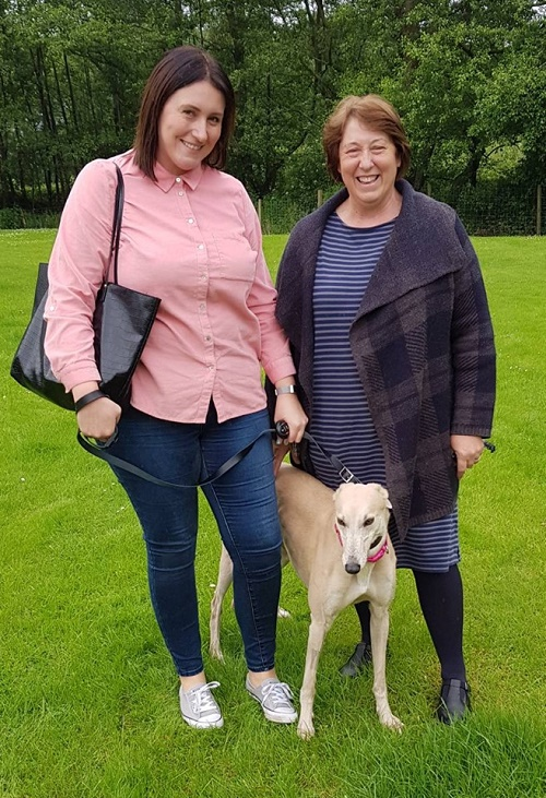 Lovely light fawn girl Hannah changed her name to Luna as she left us to go up the M1 for her forever home with Aimee in Leeds